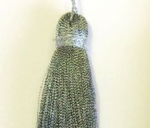 Silver Gold Key tassel - Xmas Christmas decoration - Craft curtain sewing trimming